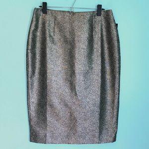 NWT Metallic Gold Worthington Pencil Skirt sz 12